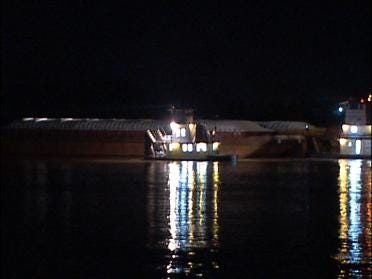 Runaway Barges Shut Down Bridge