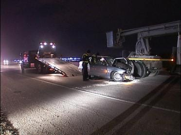 One Person Hospitalized Following Overnight Accident