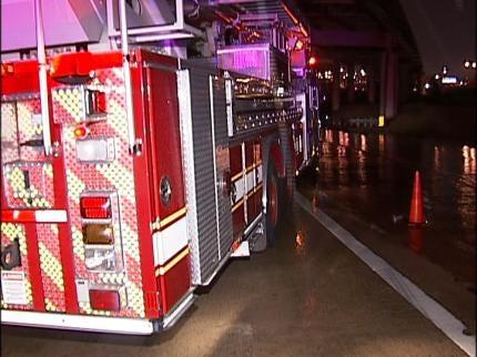 Oil Field Equipment Dumped At Tulsa Highway Exit Ramp