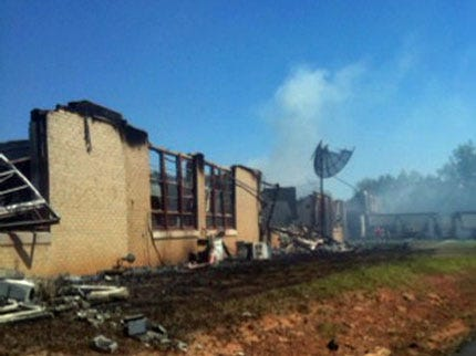 Fire Destroys Greasy School In Adair County
