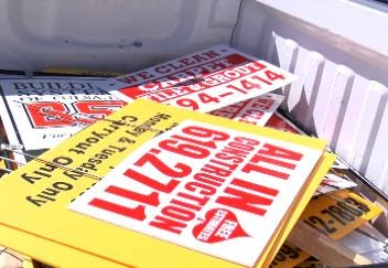 Tulsa Program Uses Volunteers to Remove Illegally Placed Signs