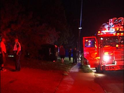 SUV Filled With Teens Flips Into Tulsa Yard