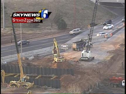 Work On ODOT's I-44 Widening Project Continues In Tulsa