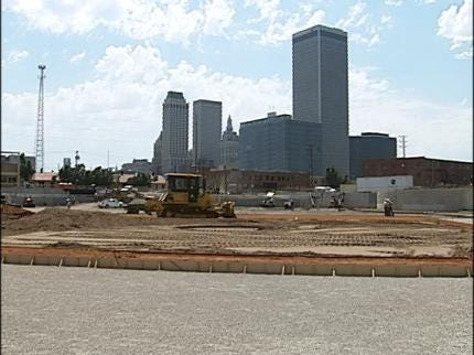 Downtown Tulsa's ONEOK Field Taking Shape