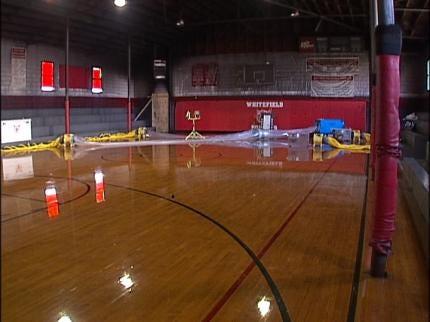 Volunteers Clean Up Vandalism At Whitefield School