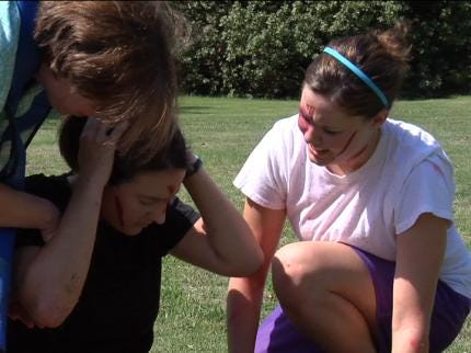 OU Med Students Conduct Tulsa Mock Disaster Drill