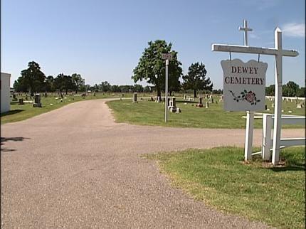 Veteran's Monuments Taken From Dewey Cemetery
