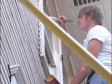 RSU Upward Bound Students Help Repair Tulsa Home