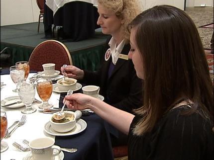 Tulsa Street School Students Learn Dining Etiquette