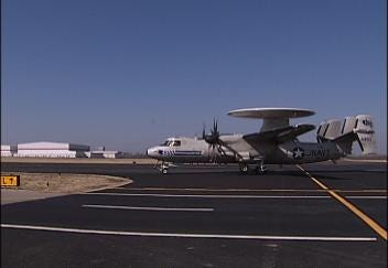 Navy E-2C Hawkeye Visits Tulsa Air and Space Museum