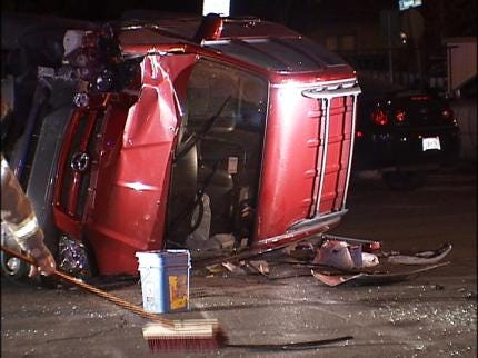 Tulsa Wreck Sends Woman To The Hospital