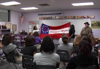 Civil War Re-enactors Visit Carver Middle School