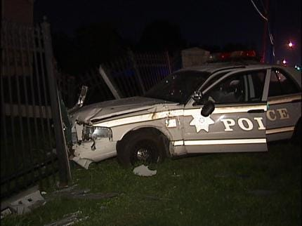 Tulsa Police Officer Avoids Injury In Accident