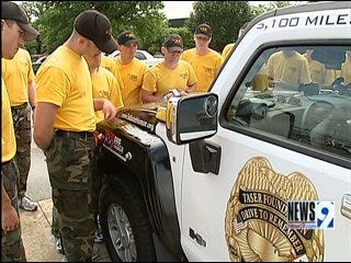 Oklahoma Trooper Honored In Cross Country Trek
