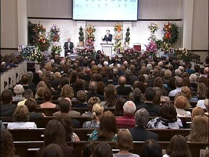 Funeral Service Held For Tulsa Family Killed In Plane Crash