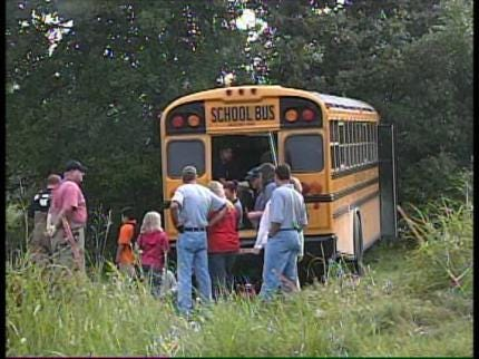 Catoosa School Bus Driver Injured When Bus Hits Tree