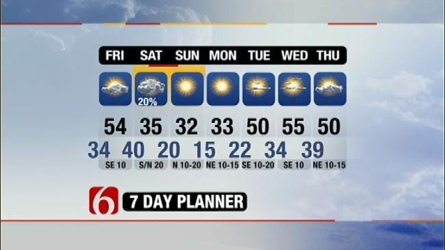 Weekend Temperatures To Plunge As Cold Front Arrives In NE Oklahoma