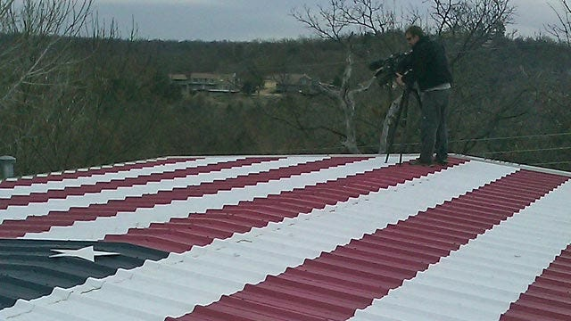 Oklahoma's Own: Painted Roof Honors Military Men And Women