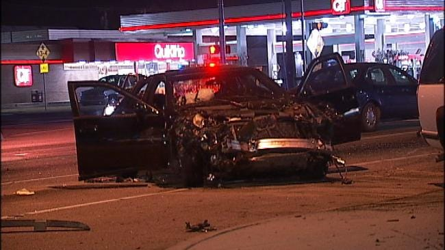 Tulsa Police Chase Ends With Injury Accident