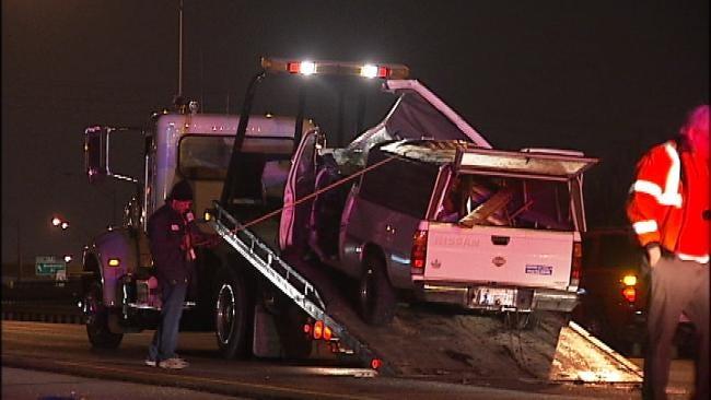 Driver Sets Off Chain Reaction Crash After Hitting Abandoned Car On Tulsa Highway