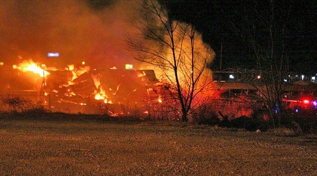 Vinita Firefighters Battle Hay Barn Fire Near Rodeo Grounds