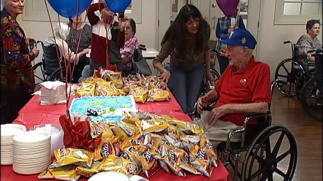 Tulsa Man Celebrates 100th Birthday With Fritos
