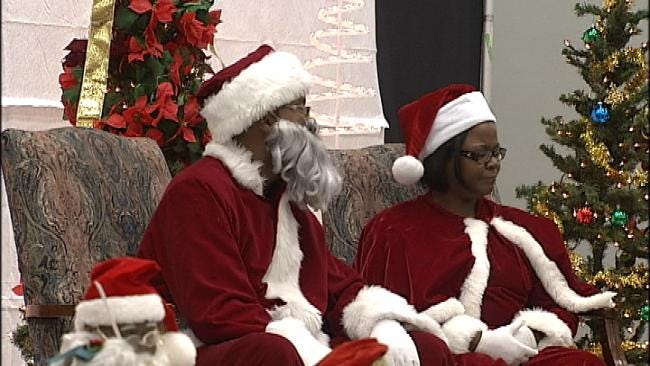 Santa and Mrs. Claus Make Early Visit To Tulsa