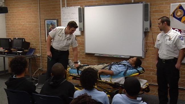 EMSA Educating Tulsa Students About Drug Abuse
