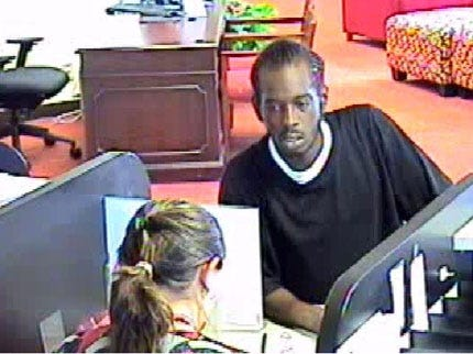 Bank Robber Hits East Tulsa Bank of America Branch