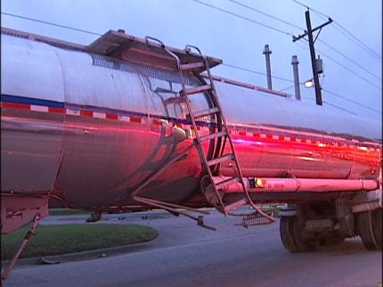 Tulsa Driver Crashes Into Tanker Truck