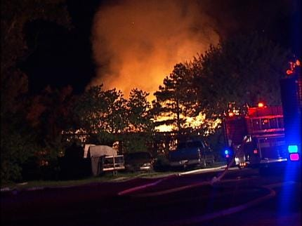 Creek County Mobile Home Goes Up In Flames
