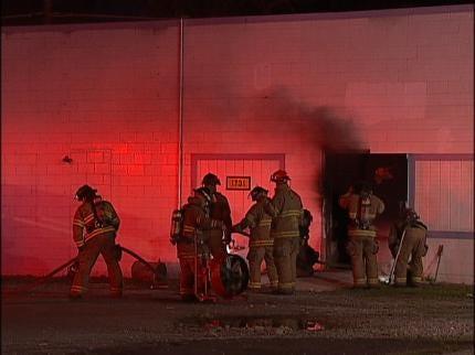 Tulsa Fire Investigates Fire In Storage Building