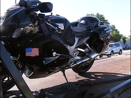Oklahoma Highway Patrol Trooper Uninjured After Motorcycle Crash