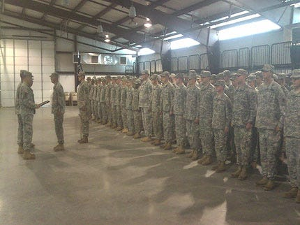 1st Battalion, 179th Infantry Receives Award For Service In Iraq