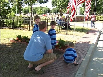 Flags Raised In Honor Of Oklahoma Veterans' Sacrifices