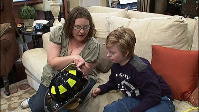 Tulsa Fire Dept. Gives Local Boy Early Christmas