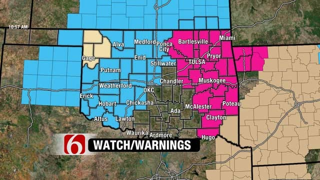 Fire Warning, Freeze Watch In Effect For Most Of Oklahoma