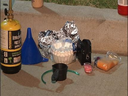 West Tulsa Early Morning Traffic Stop Nets Mobile Meth Lab