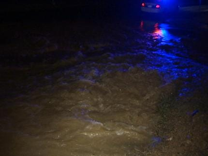 Water Main Break Buckles Part Of Tulsa Street