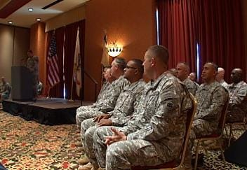 16 Green Country Soldiers Say Goodbye To Family And Friends