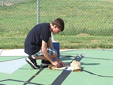Boy Scout's Artistic Talents Helping Jones Riverside Airport Visitors