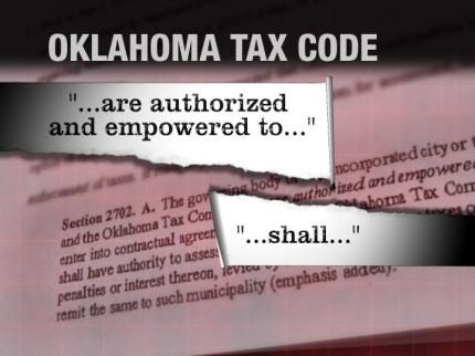 Is The Oklahoma Tax Commission Shortchanging Some Cities?