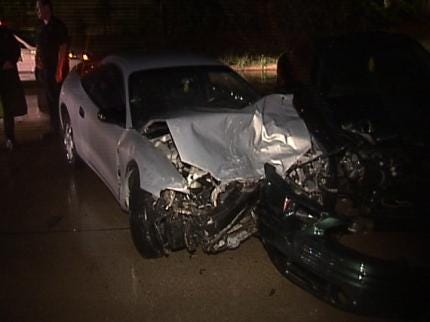 Wet Roads Lead To Several Tulsa Car Crashes Late Wednesday