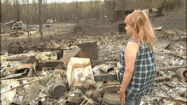 Cleveland, Oklahoma Resident Loses 'Everything' In Fire