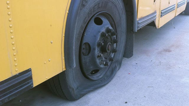 Senior Prank May Be Behind Bixby School Bus Vandalism