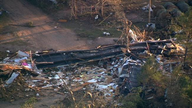 Small Atoka County Community Devastated By Deadly Tornado
