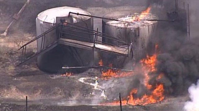 Worker Escapes Injury In Tulsa County Oil Tank Fire