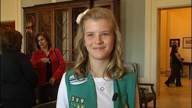 Bixby Girl Sells Most Girl Scout Cookies In Oklahoma