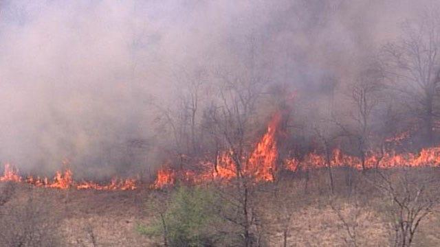 No Homes Threatened In Grassfire Near Bixby