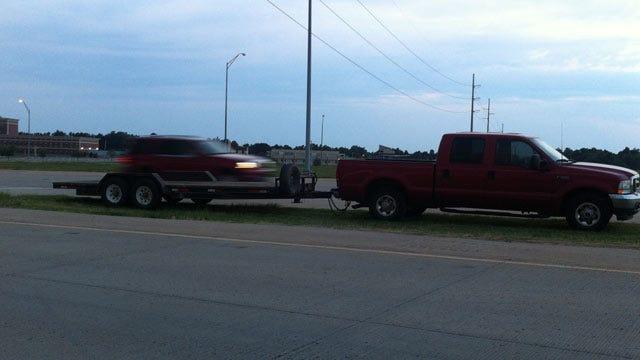 Pickup Truck Rolls Over On Tulsa's Creek Turnpike Monday Morning